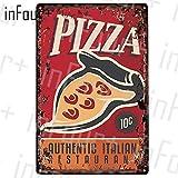 Pfannkuchen Plakette Metall Vintage Burger Metall Zeichen