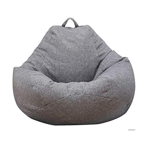 Cubierta de silla de bolsas de frijol, silla de bolsa de sofá lavable, almacenamiento de animales de peluche, cubierta de reemplazo de bolsas de frijoles, adecuado para uso domiciliario para adultos y ✅