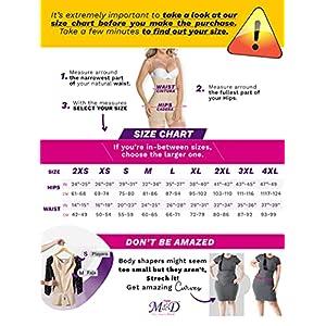 M&D Fajas 0068 Colombianas Reductoras Postquirurgicas Bodyshaper Beige XL