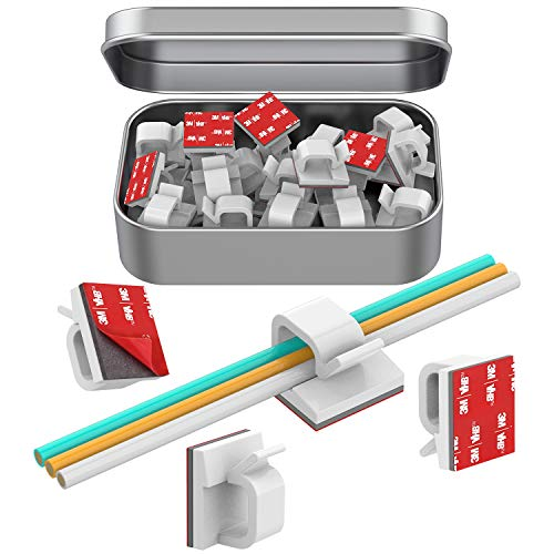 Cable Clips, Adhesive Cable Organizer Cord Holder, Durable Strong Cable Wire Management for Car, Office and Home