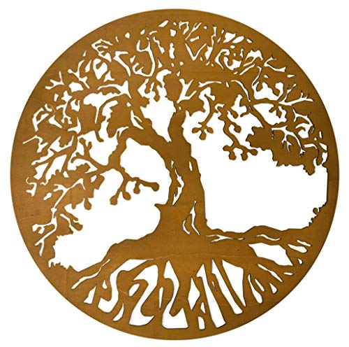 Baum des Lebens Bild aus Holz | Holzbild | Variante 2 | Wandbild | Lebensbaum | verschiedene Größen und Farben | Ø 44cm, 55cm, 66cm, 77cm, 88cm