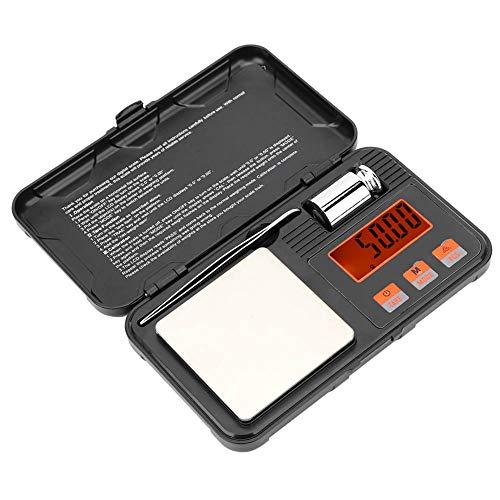Ichiias Báscula Digital, Báscula de Peso portátil multifunción de Alta precisión 200g / 0.01g, para ponderar Joyas