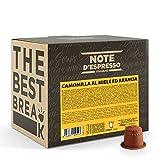 Note D'Espresso - Cápsulas de manzanilla con miel y naranja, 6g (caja de 100 unidades) Exclusivamente Compatible con cafeteras Nespresso*