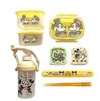 ディズニーキャラクター お弁当箱 7点セット(お弁当箱、水筒、箸&ケース、角型ケースx4)