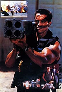 Arnold Schwarzenegger POSTER 21 x 31 holding rocket launcher Commando movie (sent FROM USA in PVC pipe)