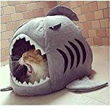 NA Shark Washable Pet Nest Cama para Mascotas de Moda Shark Dog Bed Cat Beds Sleeping Ambient Lounge Cojín extraíble-A_L