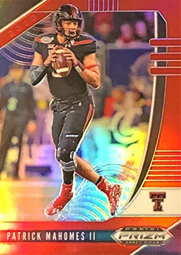 PATRICK MAHOMES Rare RED Prizm Parallel Football Card - 2020 Panini Prizm Draft Picks Football Card - Texas Tech Red Raiders