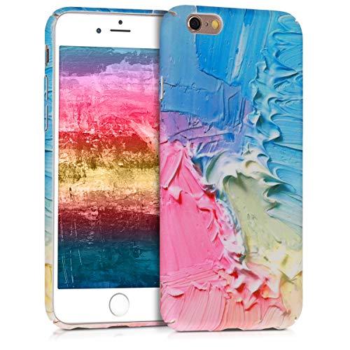 kwmobile Funda Compatible con Apple iPhone 6 / 6S - Carcasa Trasera para móvil - Cover Duro Colores Acuarela