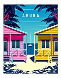 PERSONALIZE YOUR HOME: Spark up stories of your travels with this retro depiction of Aruba. This print perfectly captures the essence of the beautiful Arubian beaches and will bring you back to your memories from past travels, or spark optimism in vi...
