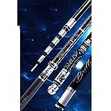 ZDDT Angelrute Hand ultraleichte Stange superharten 28 Tune Karpfen Taiwan Angelrute Carbonstange 19...
