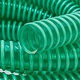 Saugschlauch *GRÜN Spiralschlauch Förderschlauch Pumpen Druckschlauch -Meterware (1' AD:30mm / ID:25mm)