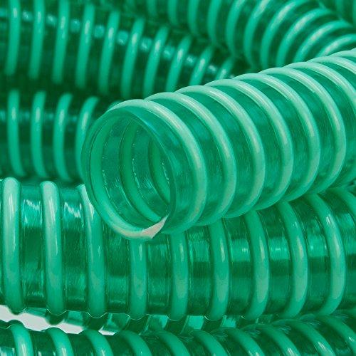 :Saugschlauch *GRÜN Spiralschlauch Förderschlauch Pumpen Druckschlauch -Meterware (3/4