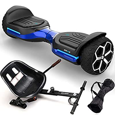 """Gyroshoes Hoverboard Off Road All Terrain hoverboards Self Balancing Hoverboard 6.5"""" T581 Flash Two-Wheel Self Balancing Hoverboard with Bluetooth Speaker and LED Lights UL 2272 Certified Best Gift"""