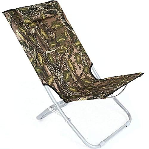 Silla de camping ultraligera Silla de camping portátil plegable ultra ligera silla mochila ligera al aire libre silla de viaje jardín picnic senderismo playa pesca - camuflaje