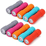 FASTPRO 10-Pack, 9-LED Mini Flashlight Set, 30-Pieces AAA Batteries are Included and Pre-Installed, Perfect For Class Teaching, Camping, Wedding Favor