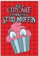 Stud Muffinバレンタインの日ジョークGreeting Card 1 Valentine's Day Card & Envelope (SKU:C1668VDG)