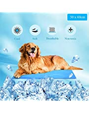 WELLXUNK Alfombrilla de Refrigeración Animales, Enfriamiento Camas de Mascotas, para Perros,Gatos, Computadora Portátil, Sofá, Oficina (50 * 60 cm)
