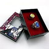 Gift-Store 2pcs/lot Cosplay Black Butler Kuroshitsuji Ciel Phantomhive Blue + Golden Ring