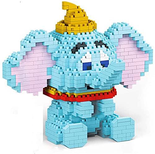 Elephant Micro Block Dumbo Building Blocks Regalo de Juguete Educativo para niños (666pcs)