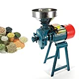 RANZIX Wet & Dry - Macinino elettrico per cereali e cereali, 1500 W, macinino per malto con imbuto in metallo per grano, caffè, pepe, soia