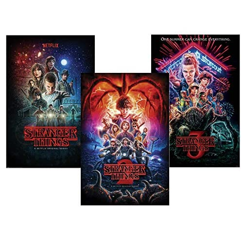 Close Up Set di 3 Poster Stranger Things - Stagioni 1,2 & 3 (61cm x 91,5cm)