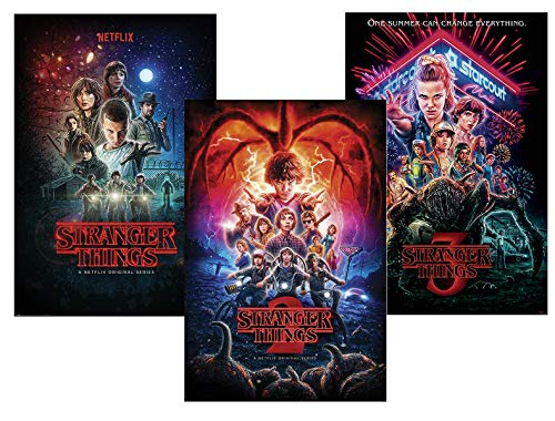 Close Up Set de 3 Pósters Stranger Things - [Temporadas 1,2 & 3] (61cm x 91,5cm)