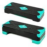 Xylo Sapphire Aerobic Steppbrett 2-Stufen höhenverstellbar Stepper Step-Bench Home-Stepper Steppbank Gymnastik Muskulatur Fitnessboard Fitness Fettverbrenung