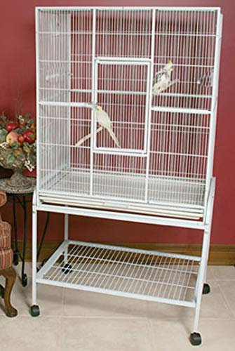 Mcage Large Wrought Iron Flight Canary Parakeet Cockatiel Lovebird Finch Cage with Removable