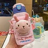 NYSJLONG Botella de Agua para niños Taza de alimentación para bebés con Tapa Termo de Leche de Acero Inoxidable para niños Botella de Agua Caliente aislada Fuga Po Therma