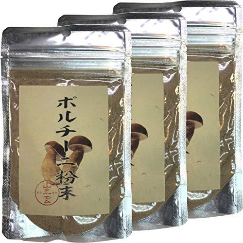 本場イタリア産無農薬100% ポルチーニ茸の粉末 40g×3袋セット 巣鴨のお茶屋さん 山年園
