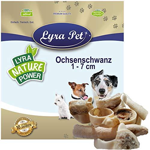 Lyra Pet® 3 kg Ochsenschwanz 1-7 cm 3000 g wie Ochsenziemer Kauartikel Hund Rind Leckerli Kausnack Hundefutter