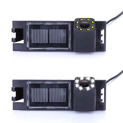 Dynavsal Caméra de recul 8 LED Vision Nocturne 170 ° Grand Angle HD Couleur étanche Caméra de recul pour Hyundai Tucson IX35 / Tucson from 2010 2012 2013