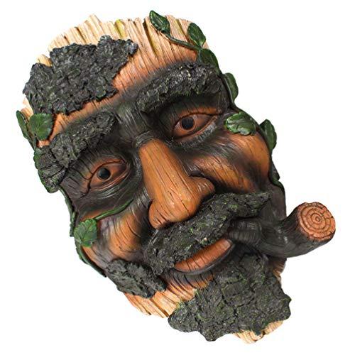 Balacoo Vogel Feeder Baum Gesicht Dekor Alten Mann Baum Skulptur Hängenden Feeder für Wildvogel Haustier Vogel Außerhalb Hof Dekorationen