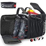 Otaro ® Premium Bolsa para Botas de esquí con Compartimento para Casco (Pro: Gris/Negro)