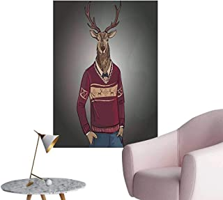 Wall Painting Hipster Jacquard Sweater H V Tage Trendy Work Image High-Definition Design,24