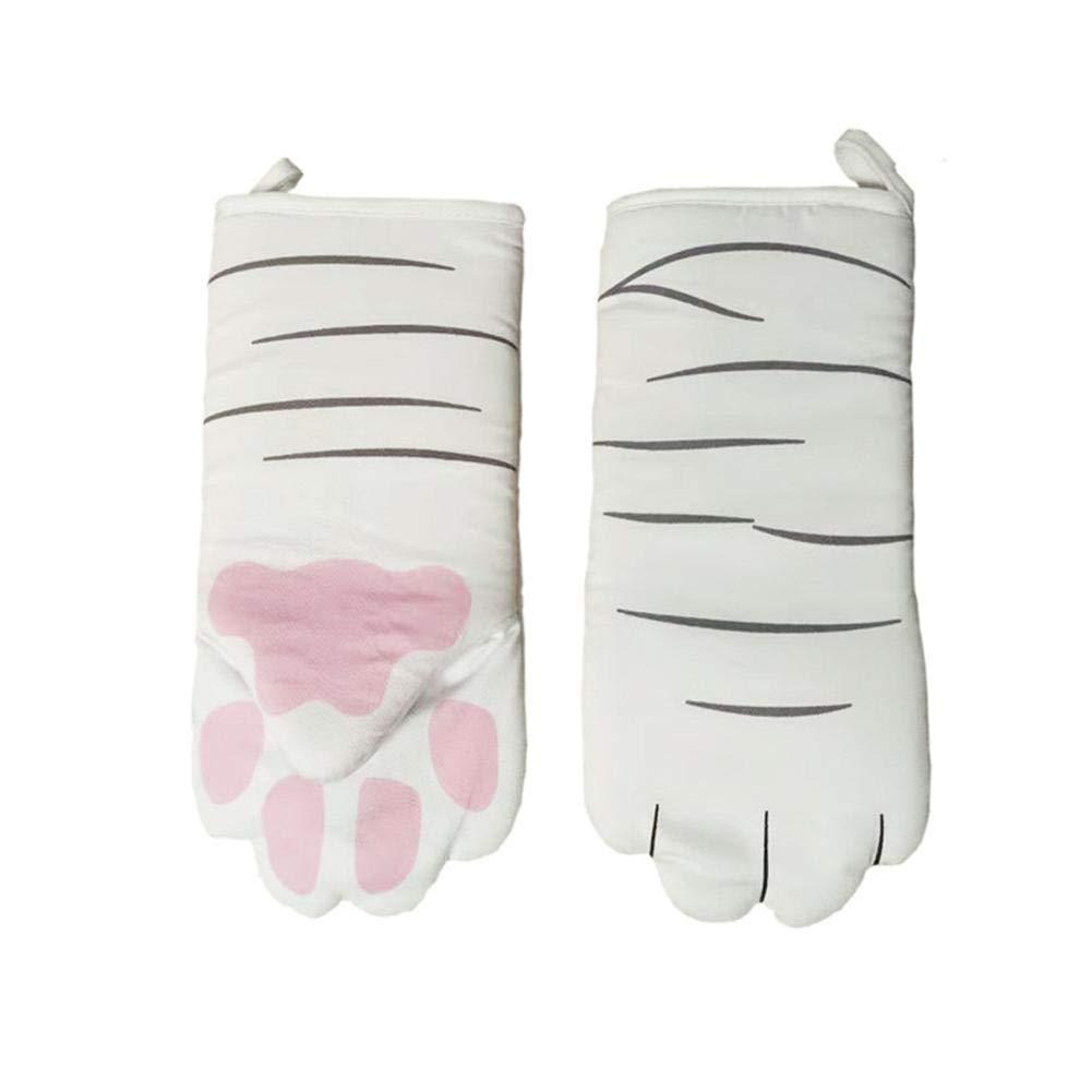 Guantes largos resistentes al calor para horno, guantes 3D de dibujos animados para gatos, guantes profesionales antideslizantes, de algodón, herramienta para hornear barbacoas, 1 unidad: Amazon.es: Hogar