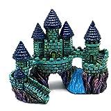 lulongyansf Miniatura del Acuario Ornamento Artificial Castillo Castillo Paisaje subacuático Tanque de Pescados de la decoración del Castillo