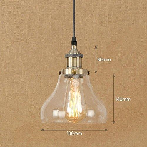OOFAY Lumière décorative moderne lumières pendentif en verre, F