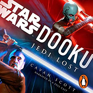 Dooku: Jedi Lost (Star Wars)                   By:                                                                                                                                 Cavan Scott                               Narrated by:                                                                                                                                 Orlagh Cassidy,                                                                                        Euan Morton,                                                                                        Pete Bradbury,                   and others                 Length: 6 hrs and 21 mins     198 ratings     Overall 4.5