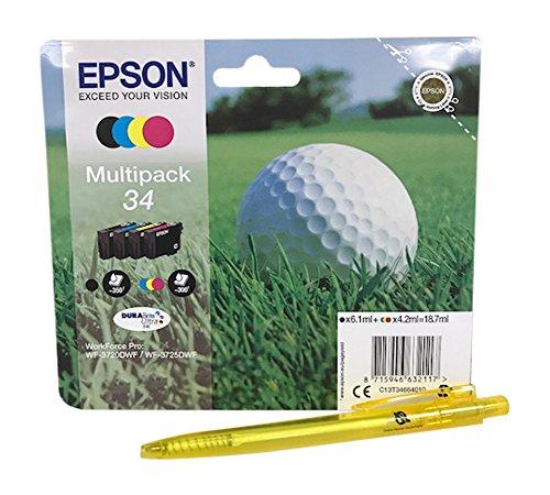 Multipack per Epson Workforce Pro WF-3720, WF-3725, colori nero, ciano, giallo, magenta