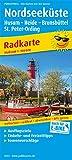 Nordseeküste, Husum - Heide - Brunsbüttel, St. Peter-Ording: Radkarte mit Ausflugszielen, Einkehr- & Freizeittipps, wetterfest, reissfest, abwischbar. 1:100000 (Radkarte / RK)