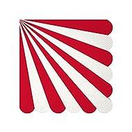 Meri Meri, Red Fan Stripe Party Collection, Red Fan Stripe Small Napkins
