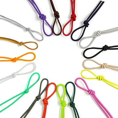 Corde élastique 3mm, 6mm, 8mm, 10mm. Neotrims. 21 couleurs ! Cordon pour tendeur, bateau, sport, couture, vêtements ou autre activité manuelle créative