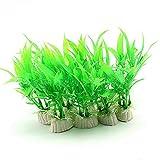 Csheng Plantas De Pecera Decoración De Pecera Plantas De Agua De Simulación Paisaje De Acuario Paisajismo De La Piscina Decoración De Hierba De Bambú Plantas De Adorno Accesorios