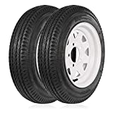Ark Motoring 4.8-12 480-12 4.8x12 Trailer Tires with Rims, 5 Lug, Road Range C, 6PR, Set of 2…