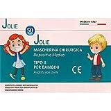 50pcs Formato Faccia Libera USA e Getta Blu 3-ply per bambino (Adatto per 6-14 anni)