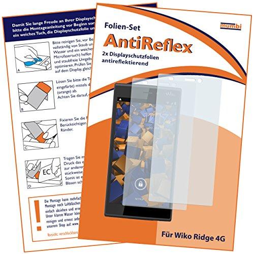 mumbi Schutzfolie kompatibel mit Wiko Ridge 4G Folie matt, Bildschirmschutzfolie (2x)