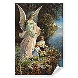 Postereck - 0152 - Schutzengel, Kinder Altes Gemälde Engel