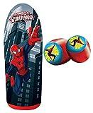 Spiderman Power Bop Combo - Socker Bopper Punching Bag and Gloves for Kids