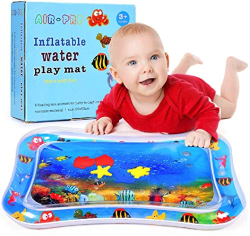 Buy Tummy Time Water Play Mat for Infants -Water Floor Play Mat - Activity Center – Stimulates You...